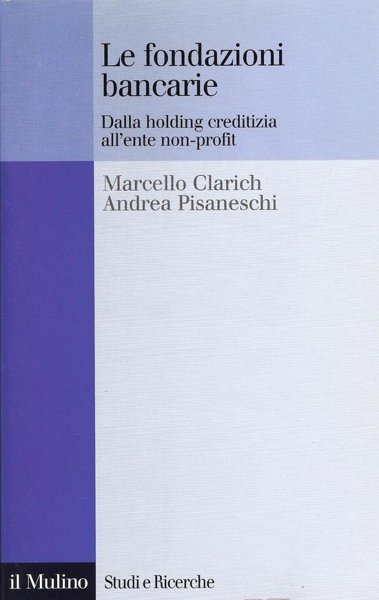 Copertina del libro Le fondazioni bancarie
